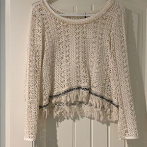 Anthropologie Crochet shirt